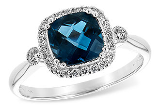 C243-74207: LDS RG 1.62 LONDON BLUE TOPAZ 1.78 TGW